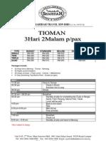 3D2N Tioman