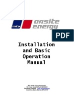 Installation and Basic Operation Manual