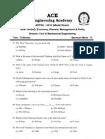 Appsc 2012 Model Exam History Economy Disaster Management Polity
