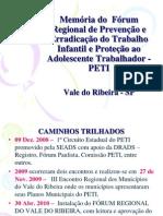 Apresentação Memória PETI_Conselhierira Ana Lourdes