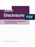 FTC's How to Make Effective Disclosures  in Digital Advertising