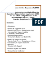 Resuscitation Supplement 2010 Version 2 - 24th August 2011
