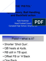 The Pistol Football Offense Theory