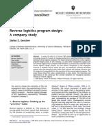 Reverse Logistics Case WCC Program Design