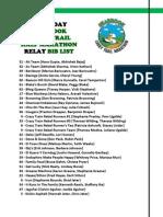 2013 Seabrook Lucky Trail Half Marathon Relay - Saturday Bib List