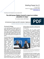 NATO Watch Briefing Paper No.21 - UN Human Rights Council Report on Libya