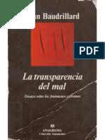 28675558 Jean Baudrillard La Transparencia Del Mal