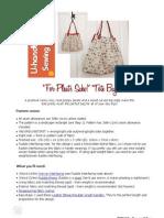 Free U-Handbag Bag Pattern. 'for Pleat's Sake Tote'PDF
