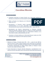 Carolina Morán CV