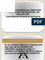 Areas Funcionales de Direccion y Prestacion de Servicios