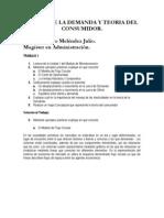Principio empresarial. Teoria de la Demanda y Teoria del Consumidor. Inocencio Meléndez Julio.