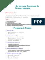 Programa Curso Tecnologia Carnes