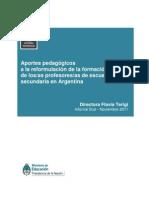 06. APORTES PEDAGÓGICOS A LA REFORMULACIÓN DE LA FORMACIÓN I