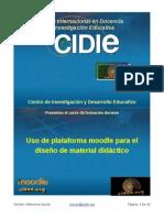 Uso de Plataforma Moodle para el Diseño de Material Didáctico Virtual