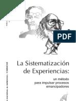 Sistematizacion de Experiencias - Libro CEPEP 2010