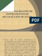 Diseño y validación de instrumentos de recolección de datos.