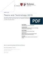 Teens and Technology 2013 - Pew Research Center
