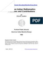 American Indian Mathematics Traditions and Contributions