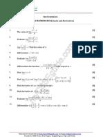 CBSE Class11 Mathematics Limits and Derivative Test 05
