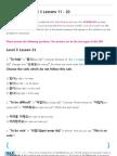 TTMIK Workbook Level 3 Lesson 11~ 20