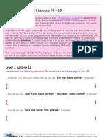 TTMIK Workbook Level 1 Lesson 11~ 20