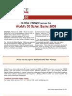 The World's 50 Safest Banks 2009 (Global Finance)