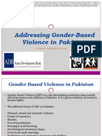 Addressing Gender-Based Violence in Pakistan