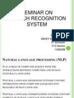 Speech Recognisation