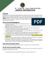 2013 BLC Scholarship App Form