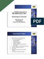 ACI 318-08, Appendix D