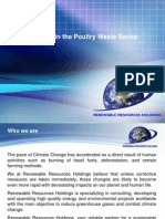 Renewable Resource Holdings - Opportunities in the Poultry Waste Sector