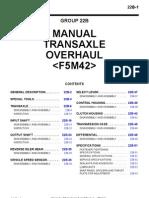F5M42 Transmission Service Manual