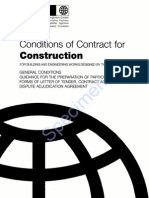 FIDIC Conditions of Contract 1999