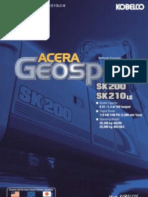 Catalgo Kobelco Sk200 8_sk210lc 8 | Vehicle Technology | Machines