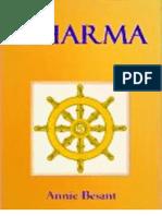 Dharma, Filosofía De La Conducta (Annie Besant)