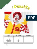 Strategic Management  - Mcdonalds