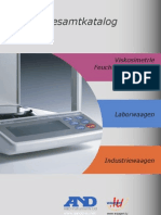A&D Laborwaagen Industriewaagen Gesamtkatalog