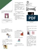 Leaflet Gizi Kurang