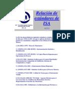 Relación de estándares de ISA
