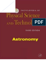 Encyclopedia of Physical Science and Technology (3Rd Ed 2001 Academic Press) - Astronomy