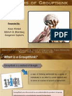 A Presentation on the symptoms of Group Think
