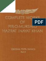 Complete Works of Pir-O-Murshi Hazrat Inayat Khan Original Texts Sayings Part II