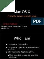 Roadmap Mac osx -Hubbard Talk