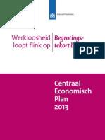 Centraal Economisch Plan 2013