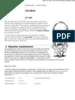 Activation Energy, Arrhenius Law