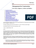 Project Management for Contruction