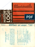 Concise History of Logic . Heinrich Scholz