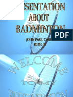 Presentation in Badminton