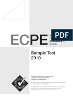 ECPE 2010 Sample Test Book