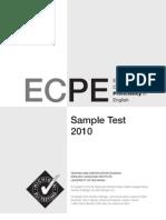 ECPE 2010 Sample Test Book